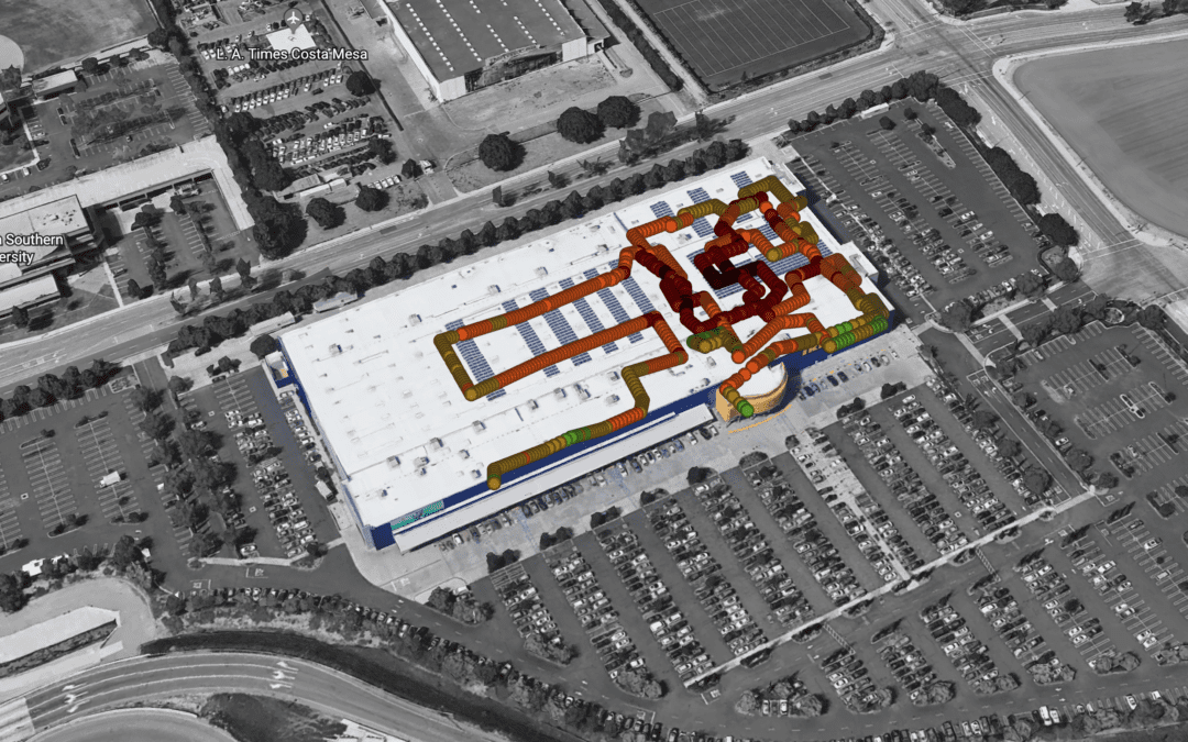 iBcell tests IKEA Costa Mesa, CA for in-building cellular coverage.